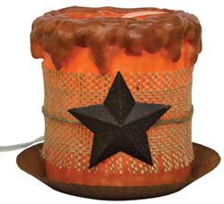 Burlap and Star Candle Lamp Set