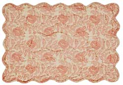 Genevieve Floral Quilted Placemats (Set of 6)
