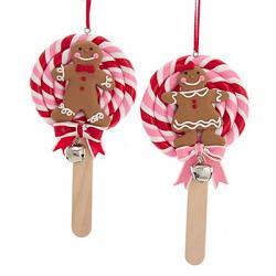 Gingerbread Lollipop Ornament
