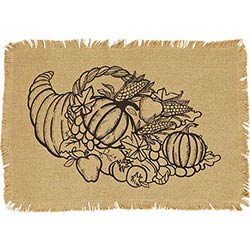 Giving Thanks Burlap Placemats (Set of 6)