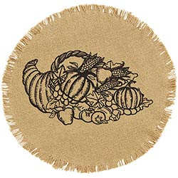 VHC Brands (Victorian Heart) Giving Thanks Tablemats (Set of 2)