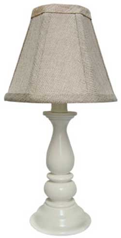 Lancaster Accent Lamp Base - White