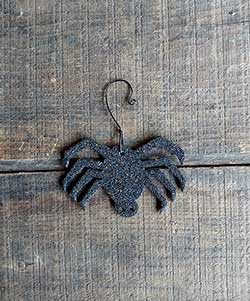 Spider Vintage Glitter Ornament - Large