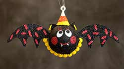 Hanging Bat Ornament - Red