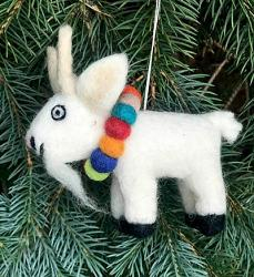 Goat Felt Ornament