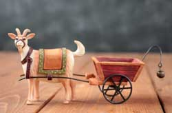 Billy Goat with Cart