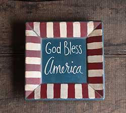 God Bless America Primitive Plate