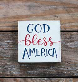 God Bless America Shelf Sitter Sign