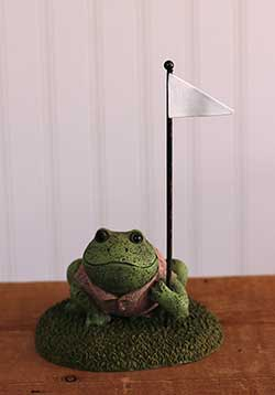 Golfing Frog with Flag