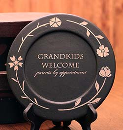 The Hearthside Collection Grandkids Welcome Plate