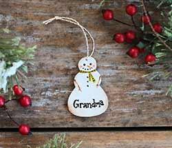 Custom Family Member Snowman Ornament