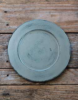 Distressed 9.5 inch Candle Plate - Warm Gray