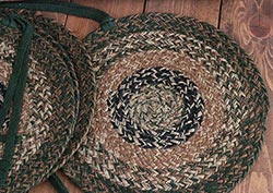 Woods Jute Chair Pads (Set of 4)