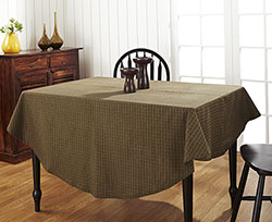 Tea Cabin Green Plaid Round Tablecloth (70 inch)