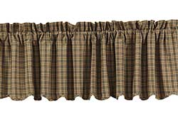 VHC Brands Barrington Valance (Green Plaid)