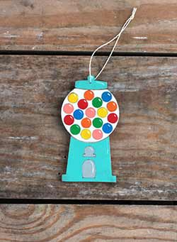 Gumball Machine Personalized Ornament - Blue
