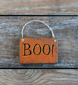 Boo Sign Ornament