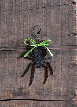 Spider Glitter Ornament