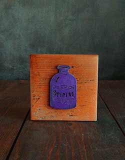 Purple Potion Bottle Shelf Sitter Sign