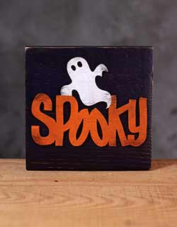 Spooky Halloween Wood Sign - Dark Purple