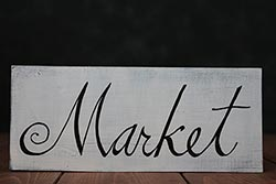 Market Wooden Sign