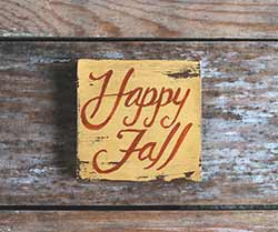 Happy Fall Shelf Sitter Sign