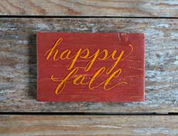 Happy Fall Wooden Sign