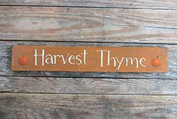 Harvest Thyme Wood Sign