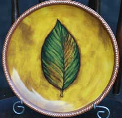 Green Leaf Accent Plate