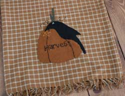 Crow and Harvest Pumpkin Table Runner