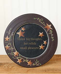 Think Big Thoughts Plate with Stars