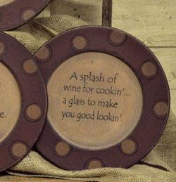 Splash of Wine Plate