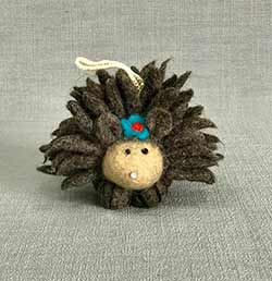 Hedgehog with Flower Ornament