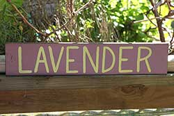 Lavender Wood Sign