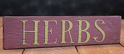 Herbs Wood Sign - Lavender & Green