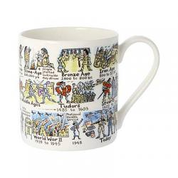History Timeline Bone China Mug