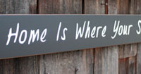 Home Is Where Your Story Begins Handmade Sign