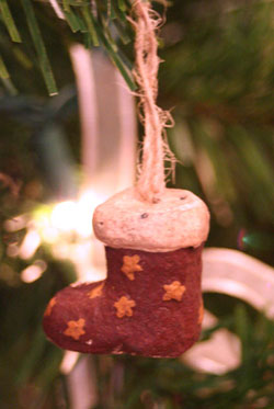 Mini Santa Boot Ornament