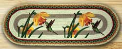 Hummingbird Oval Patch Runner - 36 inch