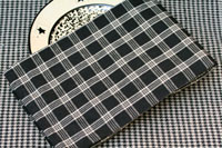 Huntington Plaid Dishtowel - Black