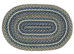 Pewter Oval Jute Rug, 20 x 30 inch