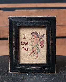 I Love You Cupid Stitchery