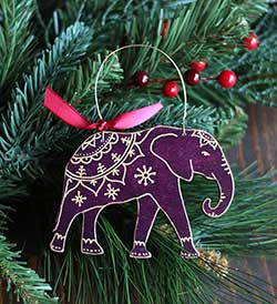 Indian Elephant Ornament (Personalized)