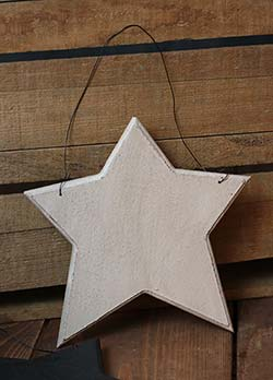Wood Star Ornament - Ivory