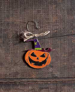 Pumpkin in Witch Hat Ornament