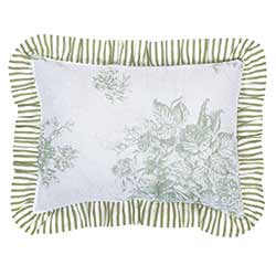 Josephine Sage Fabric Pillow Cover - 14 x 18 inch