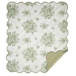 Josephine Sage Green Quilted Throw