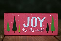 Joy to the World Shelf Sitter - Retro Pink