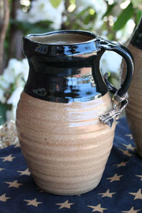 Hand-Thrown Juice Pitcher - Black
