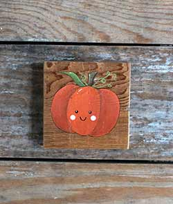 Kawaii Pumpkin Shelf Sitter Sign